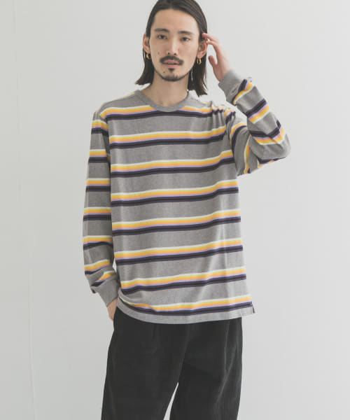 [URBAN RESEARCH][POP TRADING COMPANY STRIPED LONG SLEEVE]