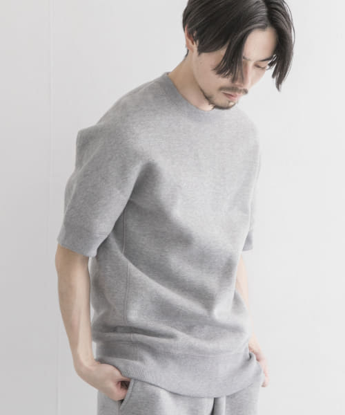 [URBAN RESEARCH][Scye Fleece Back Jersey Half-Sleeve Sweat]