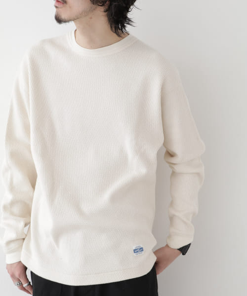 [Sonny Label][ARMY TWILL Honeycomb Rib LONG-SLEEVE T-SHIRTS]