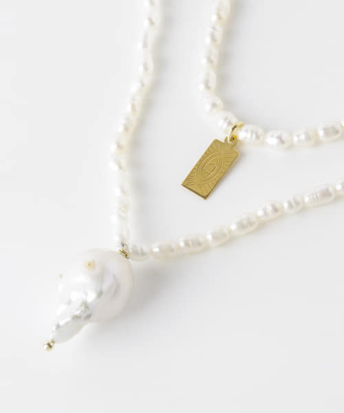 [URBAN RESEARCH][HERMINA ATHENS PEARL LAYERED NECKLACE]