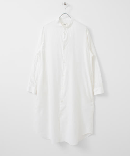 [DOORS][UNIFY Cotton Silk Band-Color Shirts One-Piece]