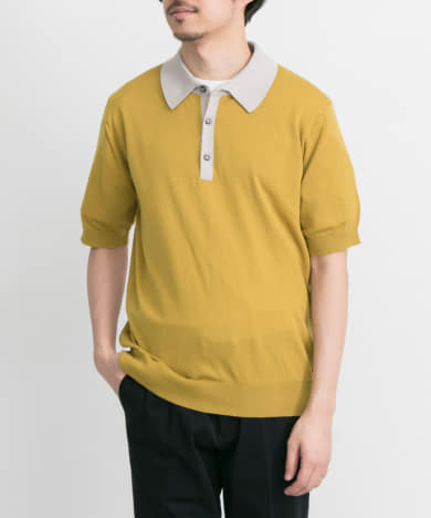 JOHN SMEDLEY 配色ポロシャツ EXCLUSIVE