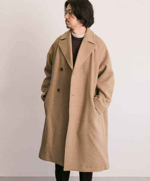 [URBAN RESEARCH][WELLDER DoubleBreasted BalmacaanCoat]