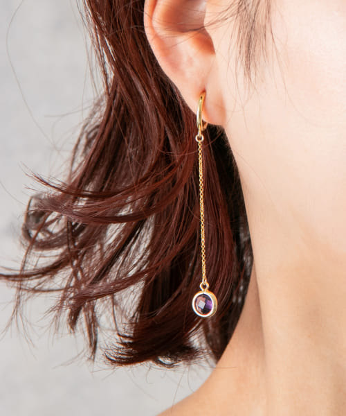 [ROSSO][Favorible Vidro long earrings]