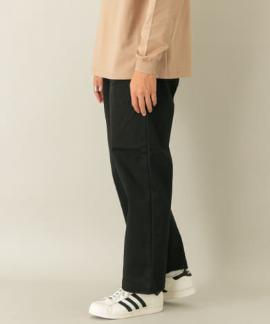 MANUAL ALPHABET TWILL WIDE TROUSERS