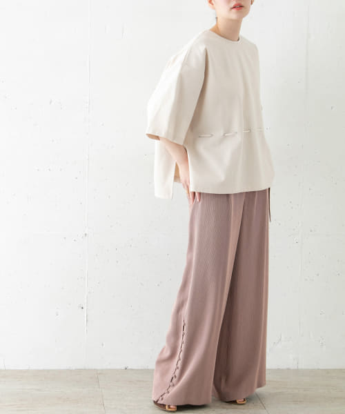 [ROSSO][Rito WIDE PANTS W/BELT]