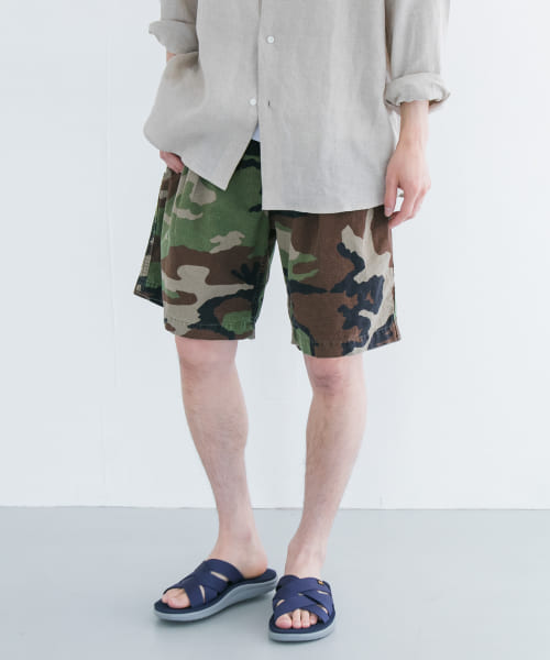 [URBAN RESEARCH][HABANOS CAMOUFLAGE SHORT PANTS]