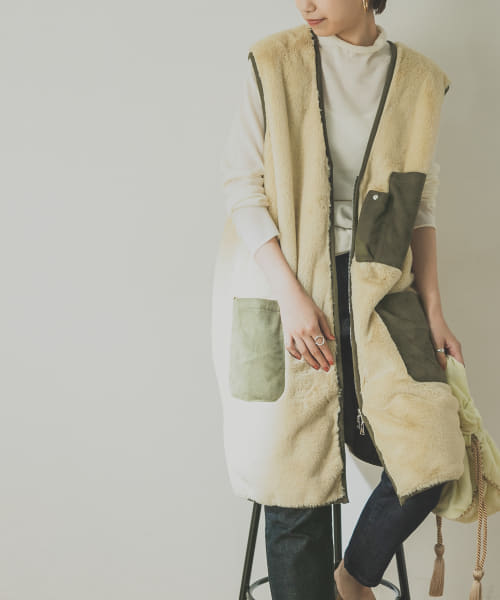 [URBAN RESEARCH][【別注】EARIH×URBAN RESEARCH ECO FUR VEST]