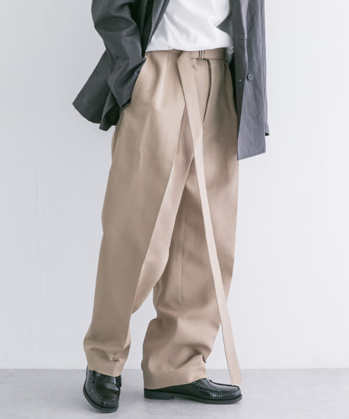 [URBAN RESEARCH][SEEALL BELTED BUGGY PANTS]