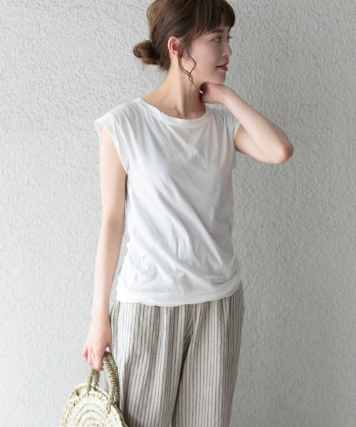 [かぐれ][MILFOIL S.JERSEY THIN SLEEVELESS]