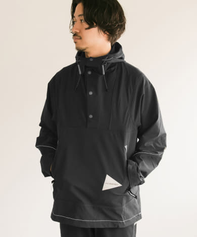 and wander nylon double cloth hoodie