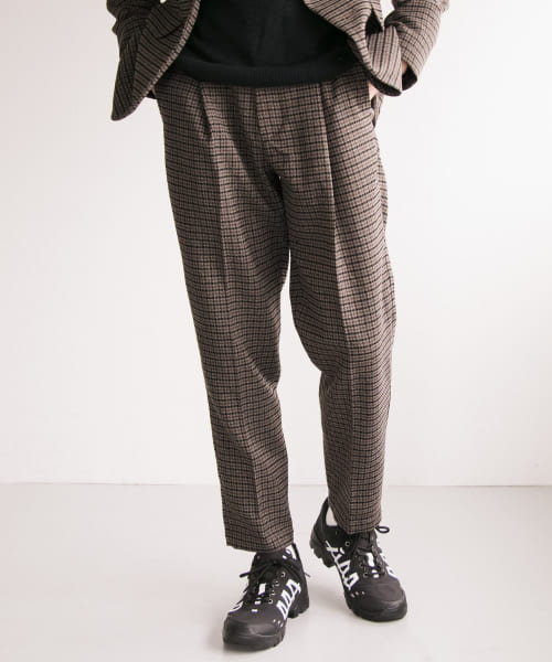 [URBAN RESEARCH][TECH TWEED EASY TROUSER]