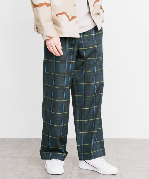 [URBAN RESEARCH][URBAN RESEARCH iD CHECK WIDE TROUSER]