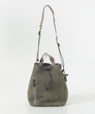 AS2OV LEATHER DRAW STRING BAG