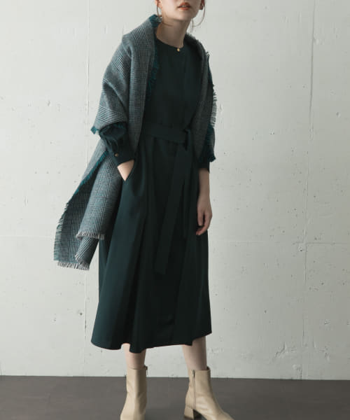 [ROSSO][Aラインタックワンピース]