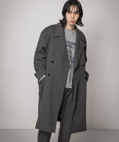 URBAN RESEARCH iD OVERSIZE DOUBLE COAT