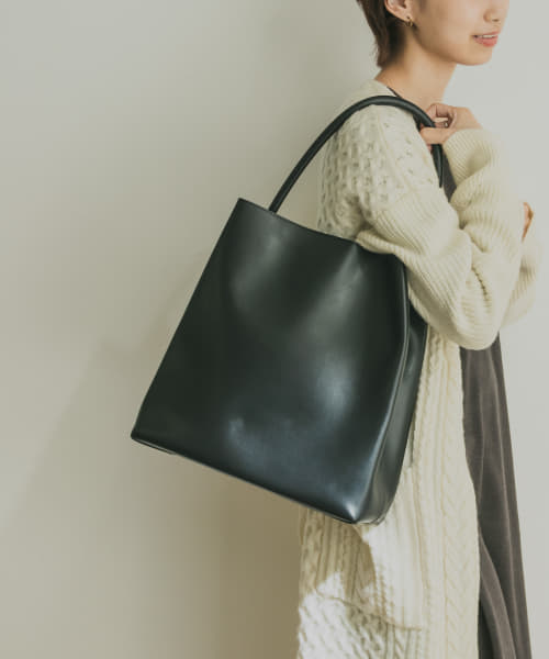 [URBAN RESEARCH][MODERN WEAVING ARCH HANDLE PLEAT TOTE]
