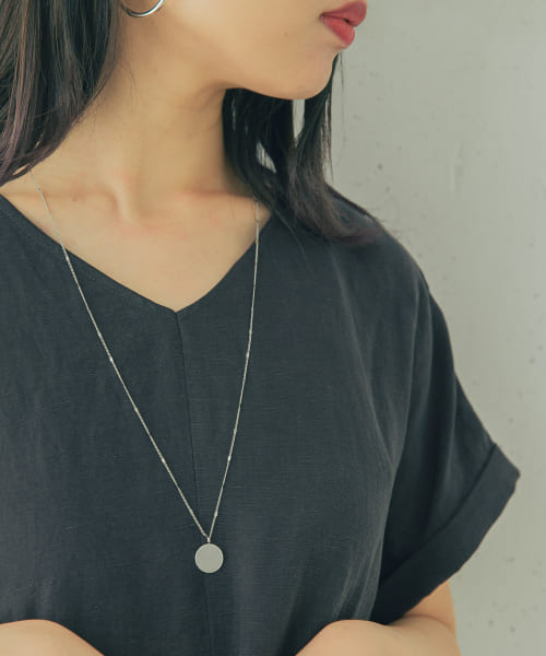 [ROSSO][Favorible coin long necklace]