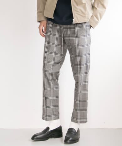STRETCH CHECK EASY TROUSER