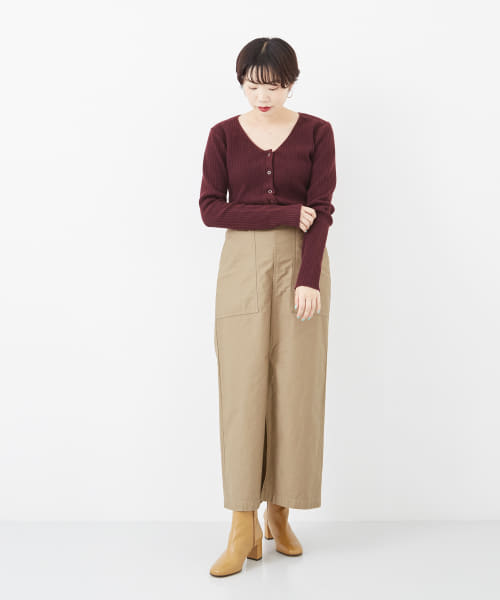 [URBAN RESEARCH][R JUBILEE RIB CARDIGAN]