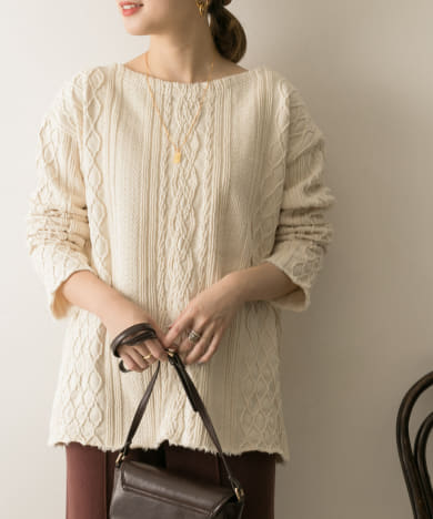 R JUBILEE Cable Pullover