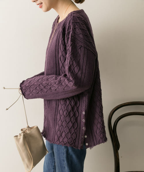 [URBAN RESEARCH][R JUBILEE Cable Pullover]