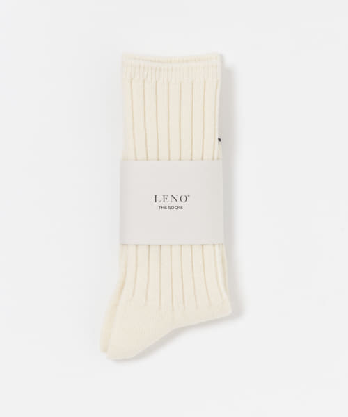 [URBAN RESEARCH][LENO WOOL RIB SOCKS]