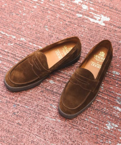 Sanders×DOORS Mudguard Butt Seam Loafer