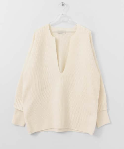 [LAATO][FLUFFY KEE-NECK KNIT]