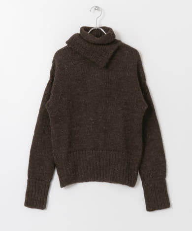 SEEALL DOUBLE HIGH NECK SWEATER