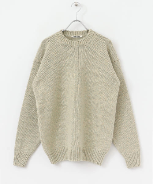 [DOORS][AURALEE CAMEL WOOL MIX KNIT PULLOVER]