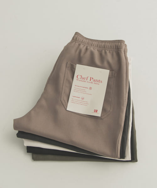 [URBAN RESEARCH][WASHABLE WOOLLY CHEF  PANTS]
