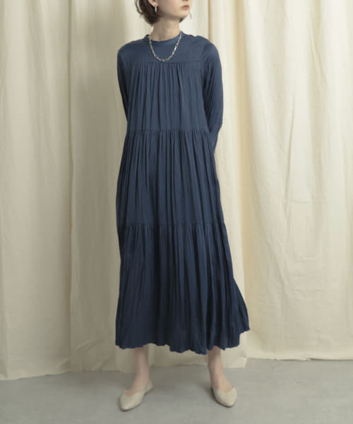 [SENSE OF PLACE][【WEB/一部店舗限定】ワッシャーティアードワンピース]