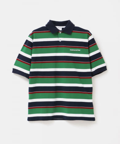 THISISNEVERTHAT DSN Striped Jersey PoloShirts