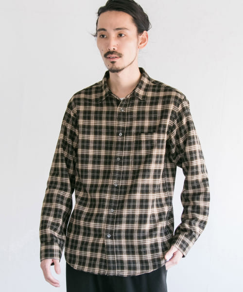 [URBAN RESEARCH][Brushed check shirts]