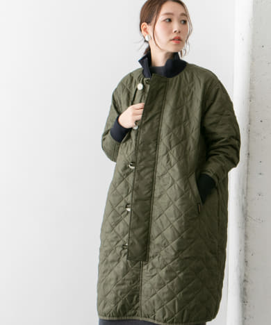 LAVENHAM×FRED PERRY QULTED FUNNEL NECK COAT