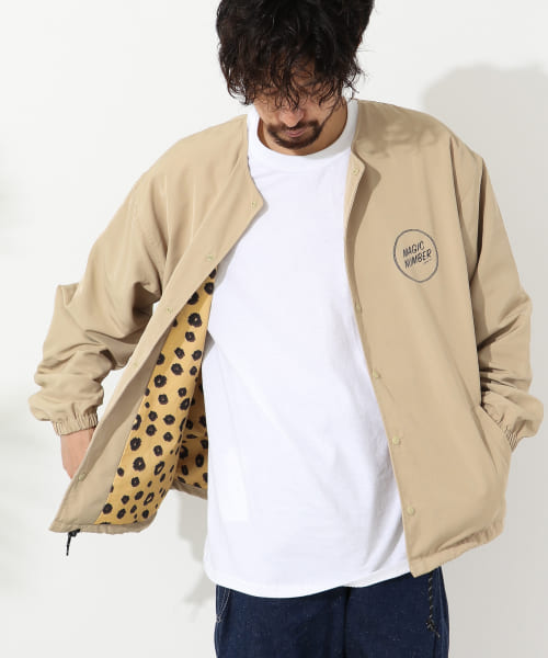 [Sonny Label][MAGIC NUMBER NO COLLAR COACH JACKET]
