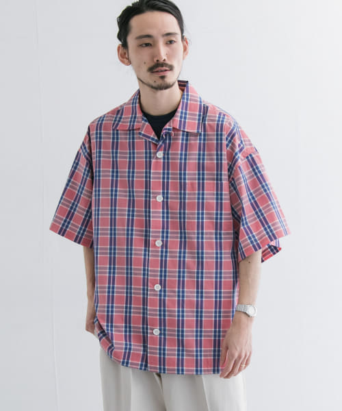 [URBAN RESEARCH][is-ness OPEN COLLAR SHORT SLEEVE SHIRTS]