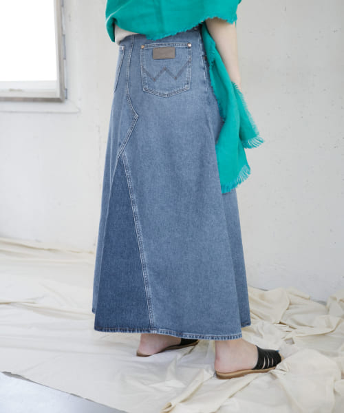 [ROSSO][【別注】Wrangler DENIM FLARE SKIRT]