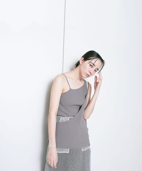 [LAATO][LAYERED KNIT CAMISOLE]