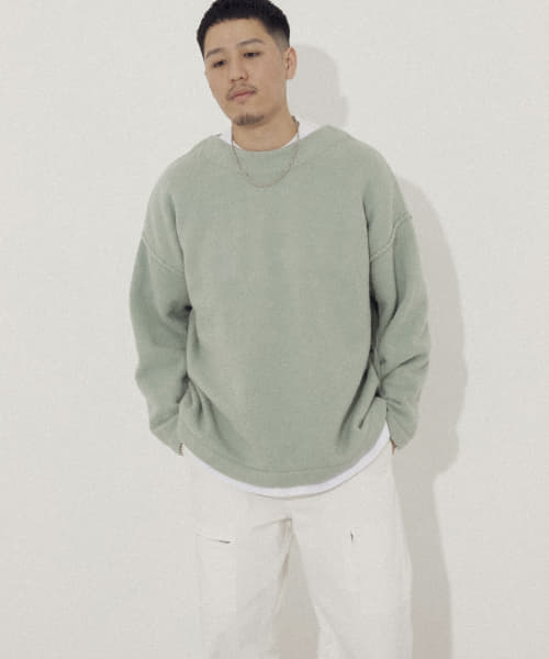 [URBAN RESEARCH][URBAN RESEARCH iD OVERSIZE BOUCLE KNIT]