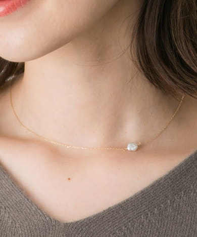 Favorible akoya pearl necklace