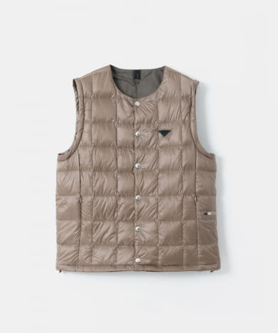 TAION Crew-Neck Inner Down Vest Half/Long-Sleeve