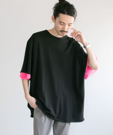 VOTE MAKE NEW CLOTHES LAYER MESH T-SHIRTS