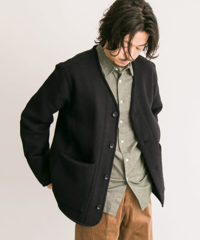 MANUAL ALPHABET WOOL LINNER JACKET