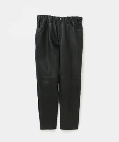 WESTOVERALLS LEATHER EASY TAPERED PANTS