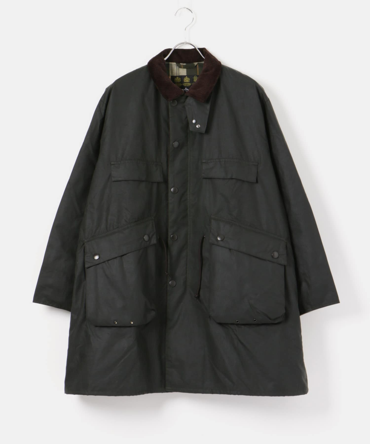 Stand Collar Traveller Coat KS9FBB01 Field Coat MWX1452: Sage, Black