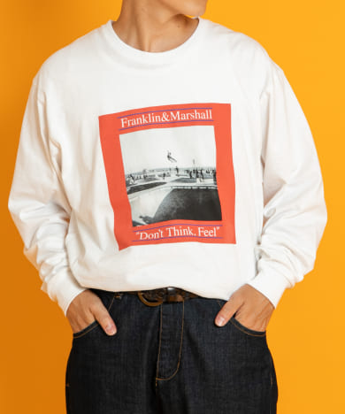 FRANKLIN & MARSHALL プリントロングスリーブ Tシャツ FMSSR-1