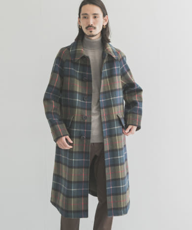 Scye Plaid Wool Coat
