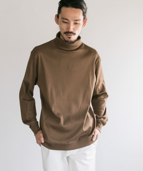 [URBAN RESEARCH][COSEI RIBシルケットバイオTURTLE-NECK PULLOVER]